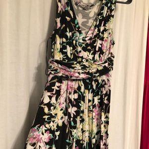 Floral Jennifer Lopez maxi dress
